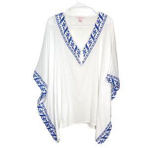 Victoria's Secret white embroidered coverup tunic